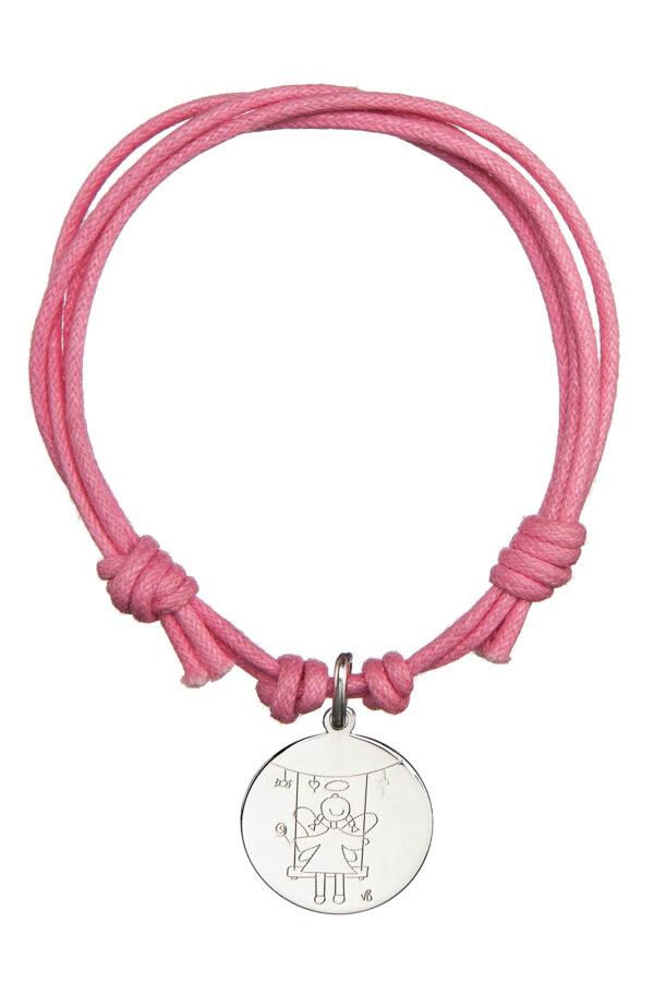 Bracciale cordino rosa