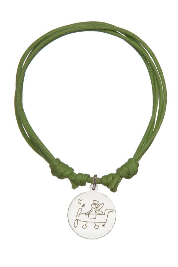Bracciale cordino verde
