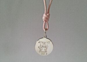 Collana cordino rosa