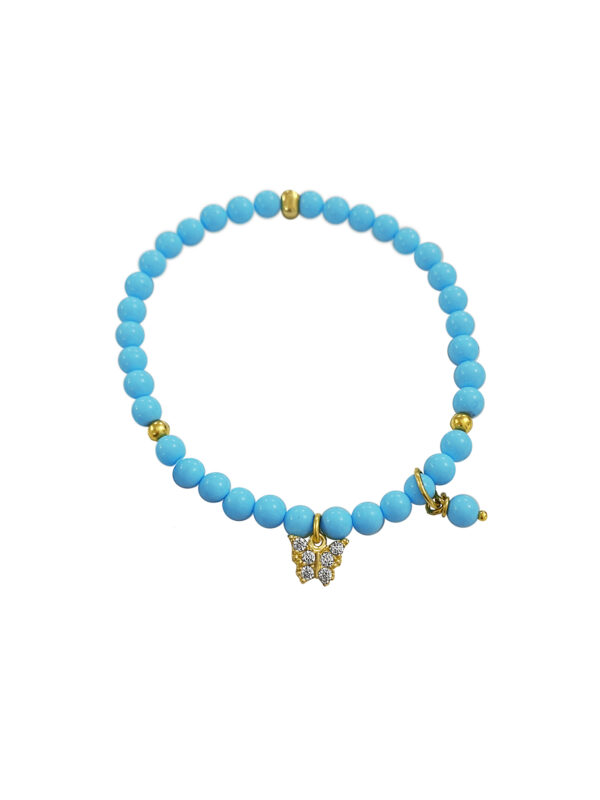 BRACCIALE LITTLE BUTTERFLY TURCHESE